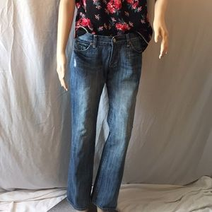 7 FOR ALL MANKIND BLUE FLARE JEANS 28